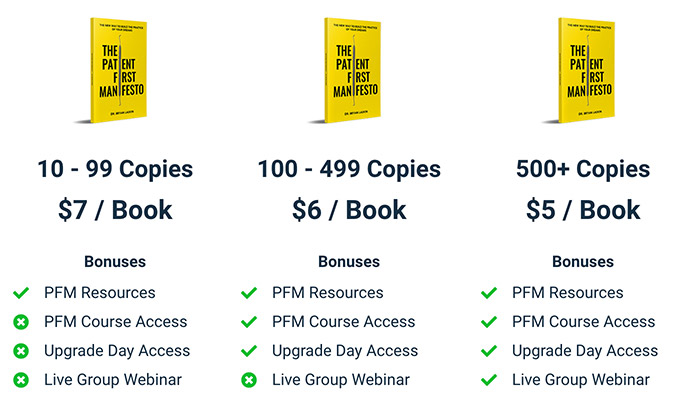 The Patient First Manifesto Bulk Pricing